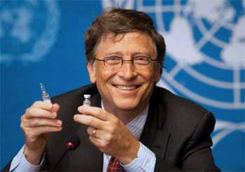 Bildergebnis für bill gates he great vaccination pope and altruist images