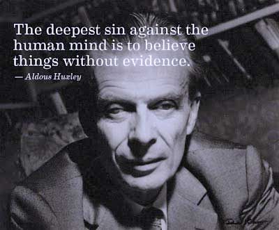Aldous Huxley Quotations on the Bible, Christianity, sexual mores, philosophies of meaninglessness, and philosophies of meaning